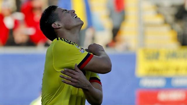 Colombia-Venezuela: James arranca con derrota (0-1)