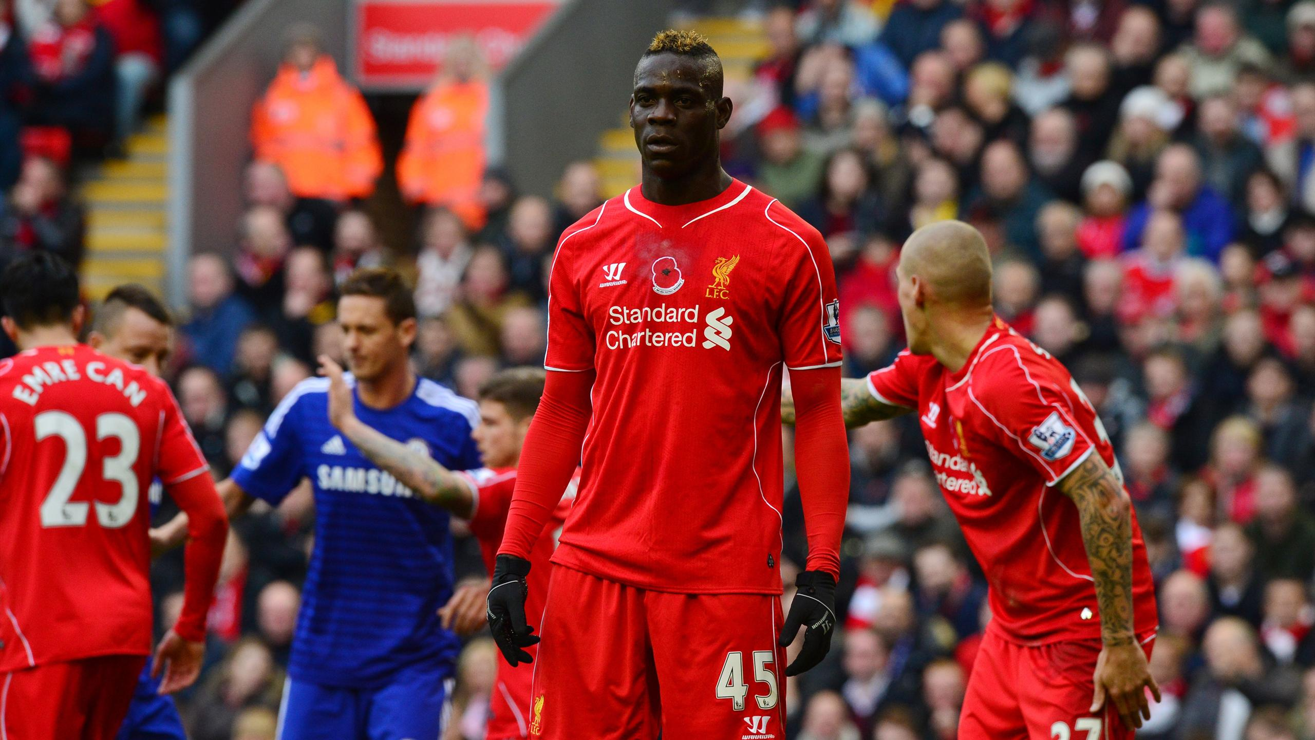 Mario Balotelli (Liverpool) contre Chelsea en Premier League le 8 novembre 2014