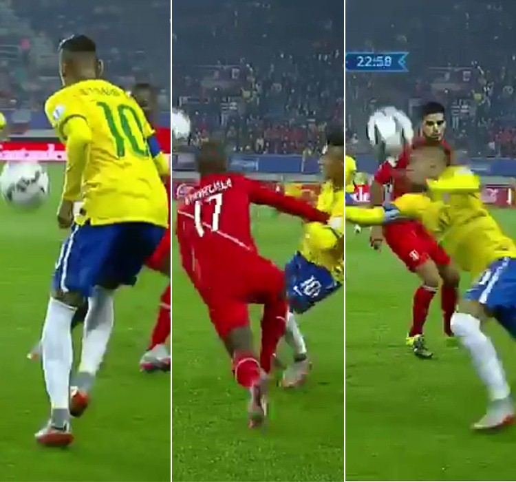 Neymar shows off