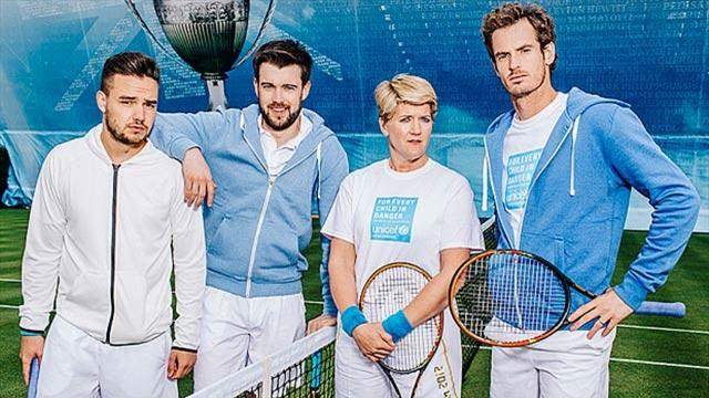 Andy Murray coaches (well, shouts at) celebrities in comedy sketch for Unicef