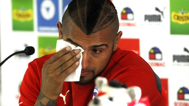 Vidal handed driving ban, apologises to 'all of Chile'