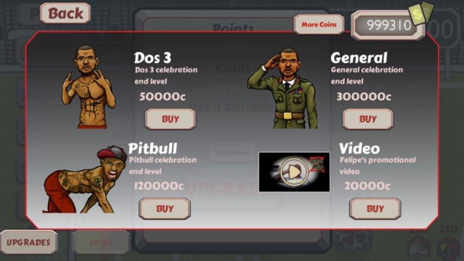 Felipe Melo Z video game bonus screen