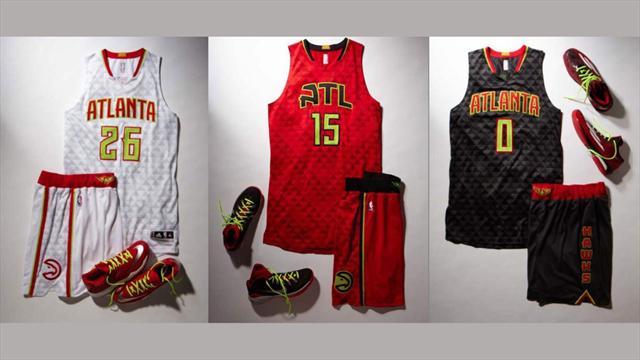 Atlanta d�voile les maillots les plus modernes de la NBA