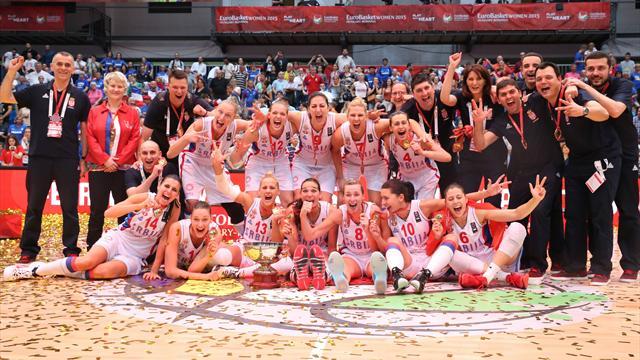 Женская сборная Сербии по баскетболу впервые выиграла чемпионат Европы
