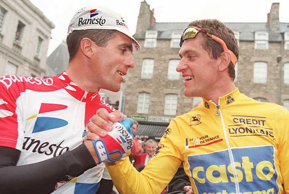 Miguel Indurain et Jacky Durand, Tour de France 1995.