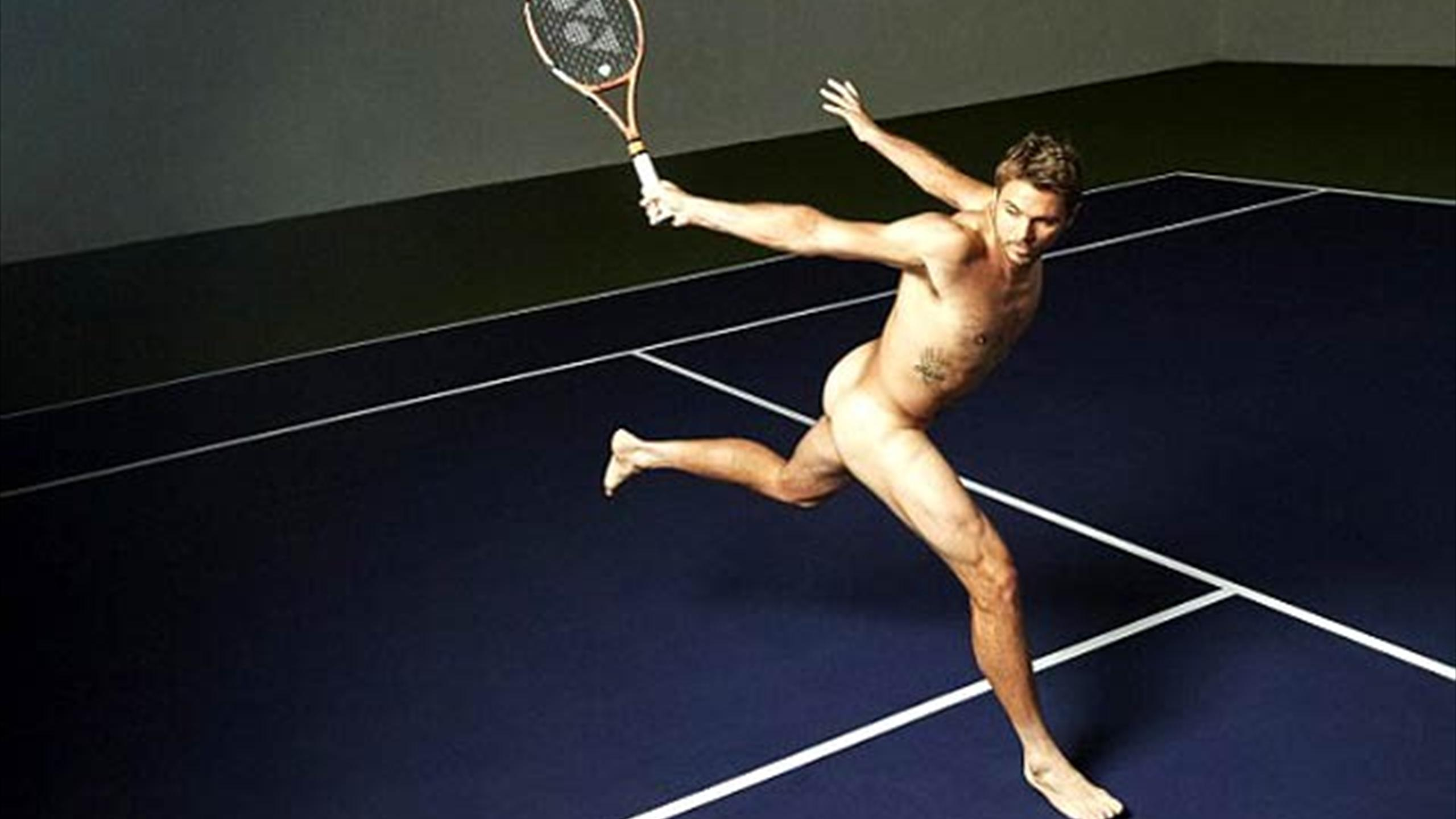 Stan Wawrinka posing in ESPN's 'The Body' issue