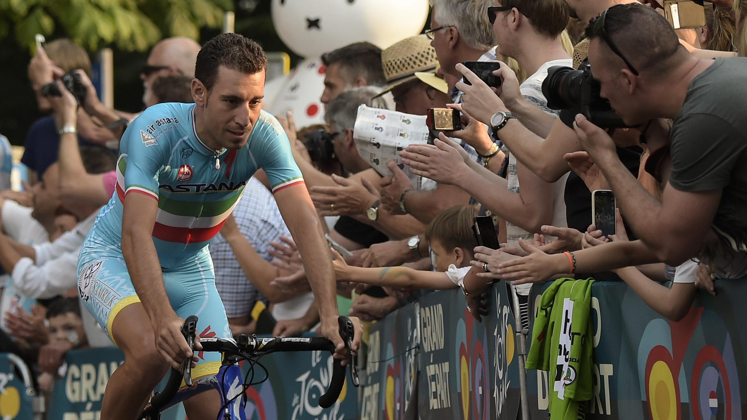 Vincenzo Nibali à Utrecht pour la présentation du Tour de France 2015