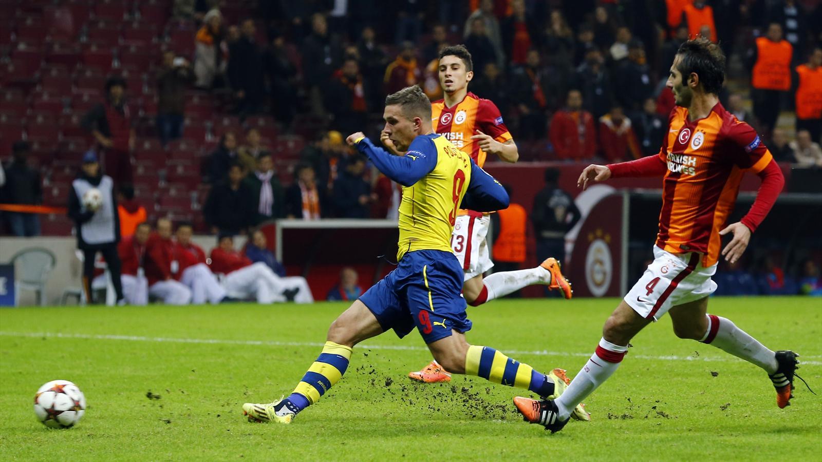 Podolski scored against Galatasaray twice in last season's Champions League