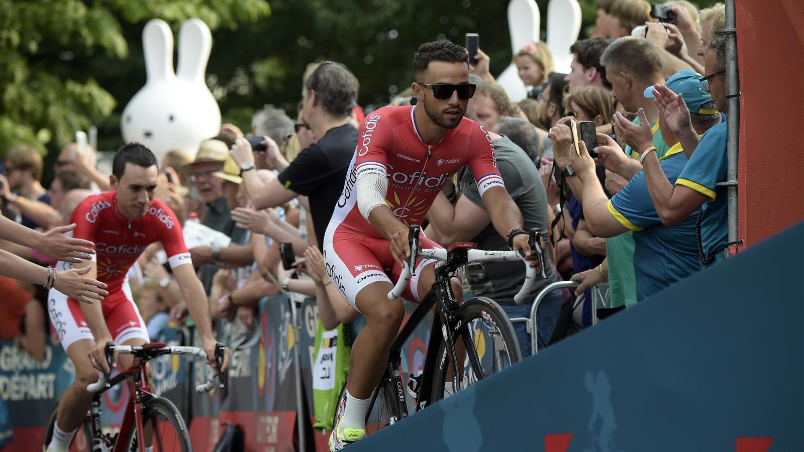Nacer Bouhanni, atout maître d'une équipe Cofidis venue chercher sur le Tour de France 2015 son premier succès depuis 2008