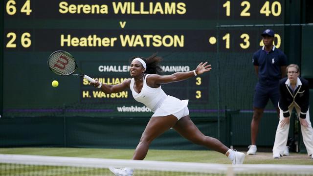 Watson'ın çabası Serena'yı yıkmaya yetmedi