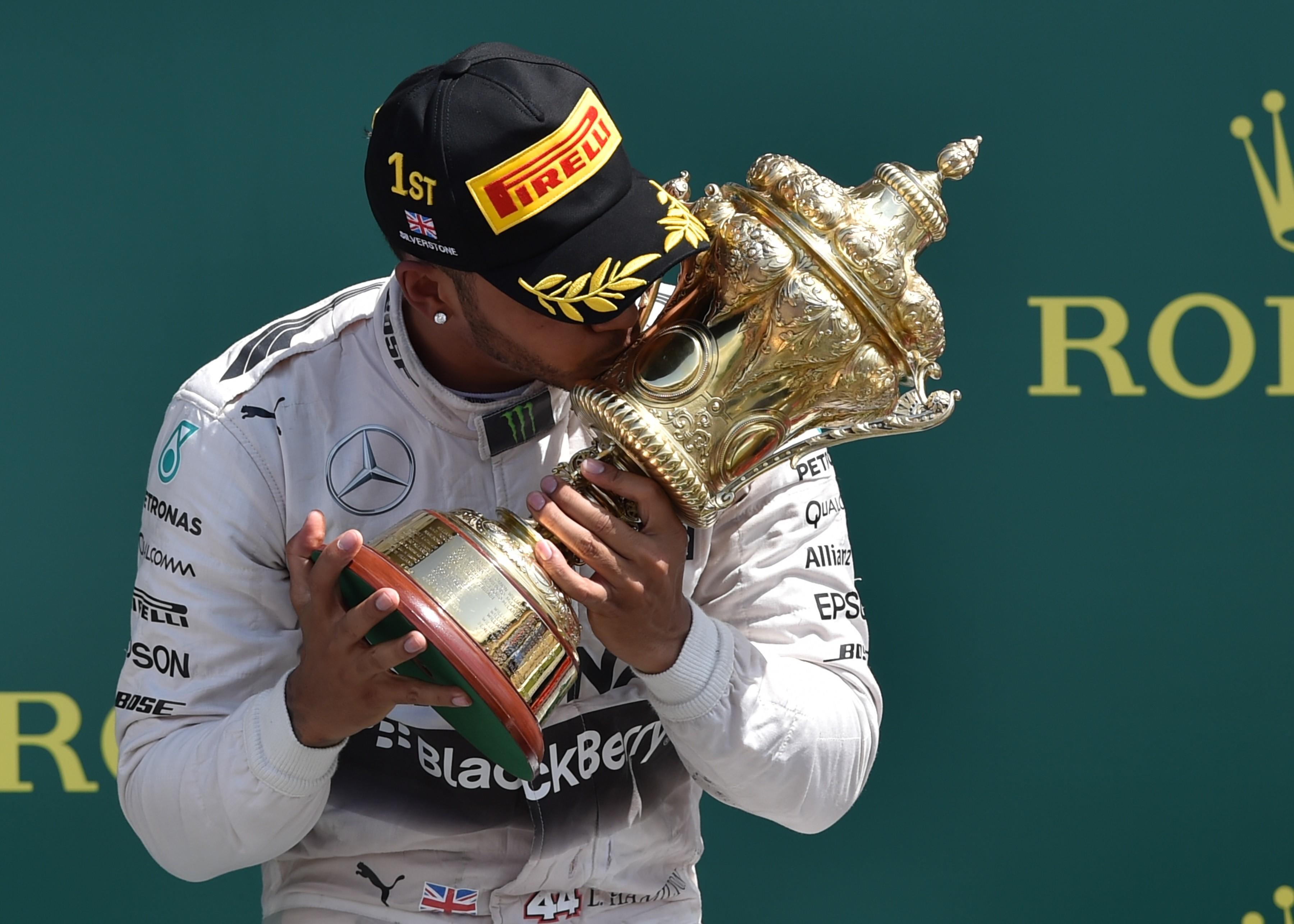 Lewis Hamilton (Mercedes) au Grand Prix de Grande-Bretagne 2015