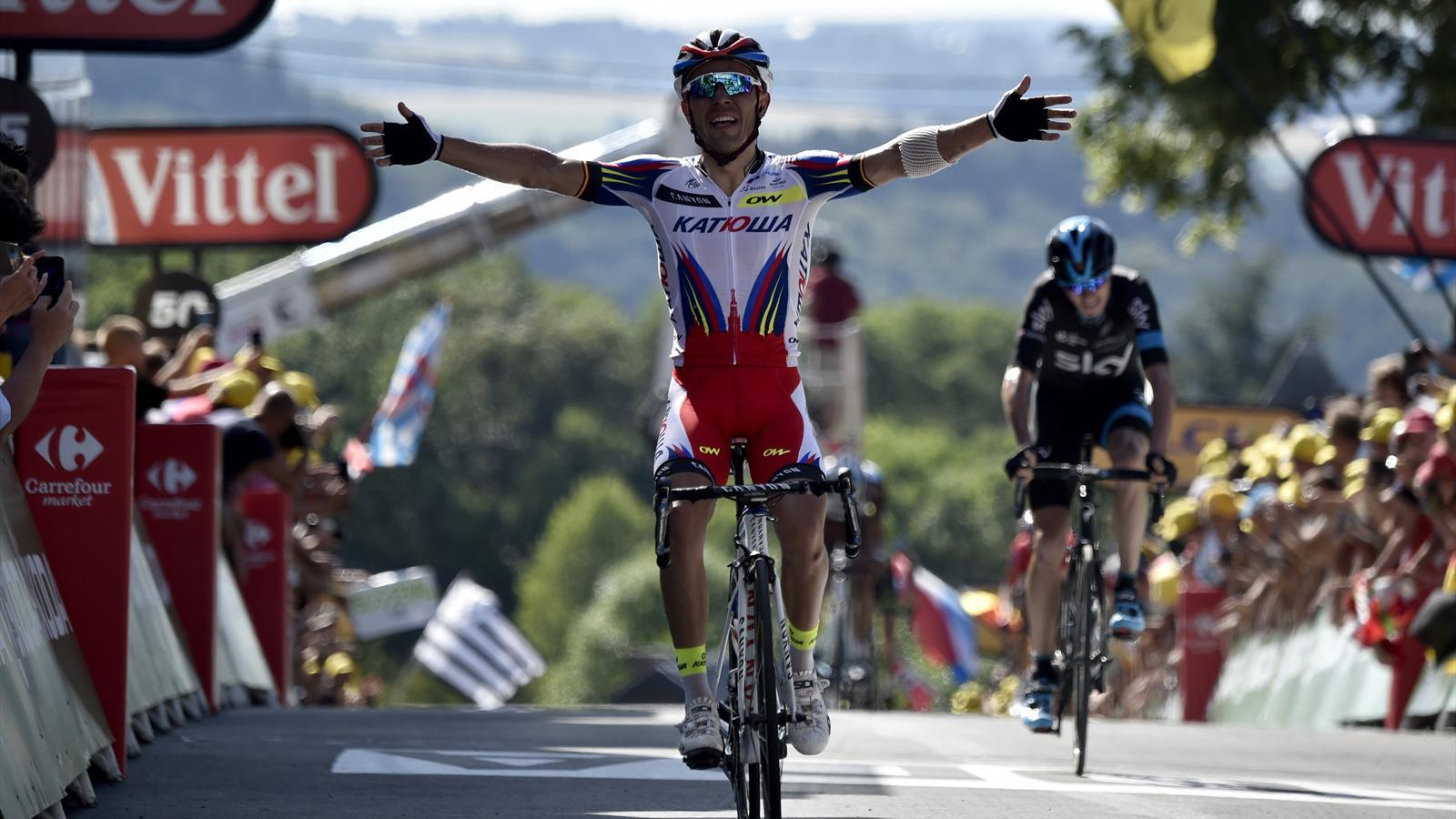 Joaquim Rodriguez s'impose au Mur de Huy lors de la 2e étape du Tour 2015