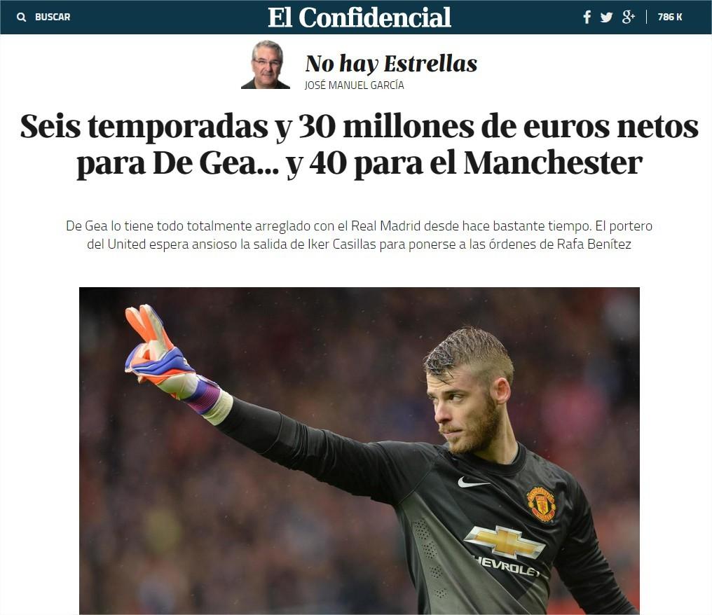 Is David De Gea going to Real Madrid?