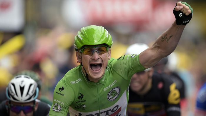 Jolly green giant Andre Greipel doubles up with win in Amiens - Tour ...