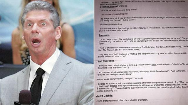 Leaked: The extensive instructions WWE boss Vince McMahon gives his commentators