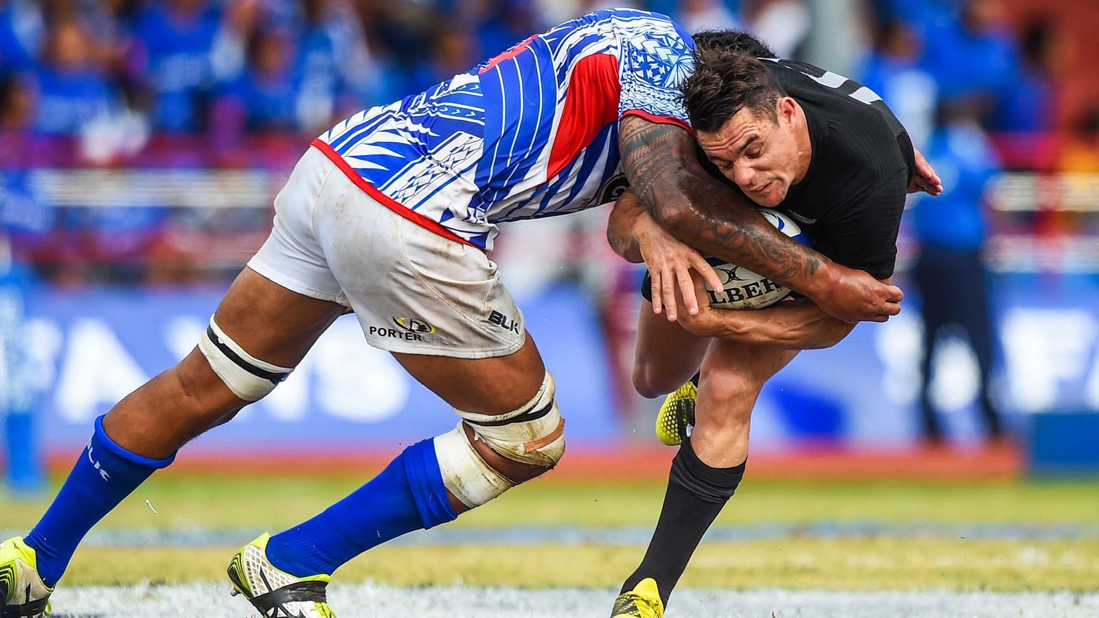 Dan Carter (Nouvelle-Zélande) face aux Samoa - 8 juillet 2015