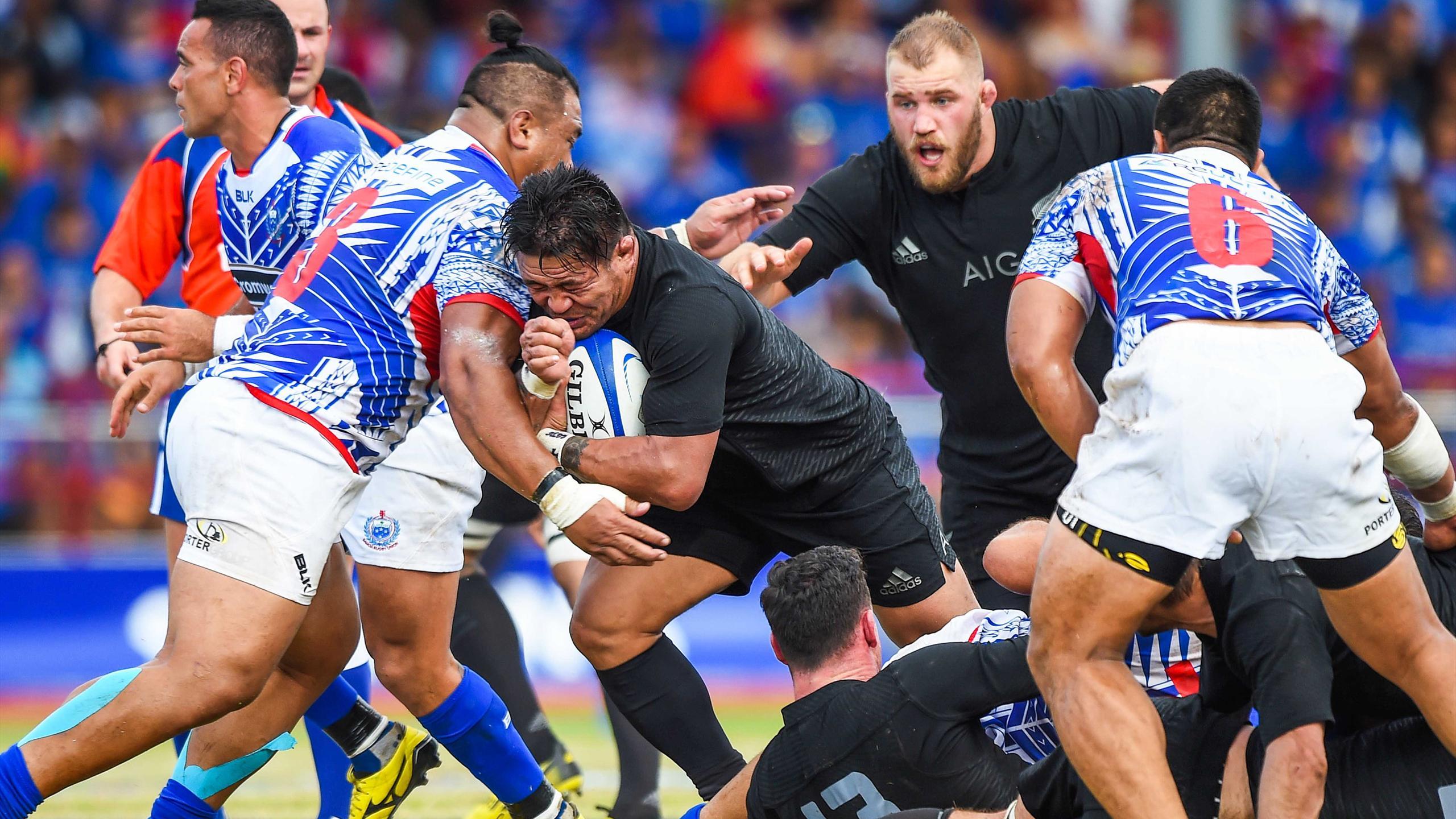 Kevin Mealamu (Nouvelle-Zélande) face aux Samoa - 8 juillet 2015