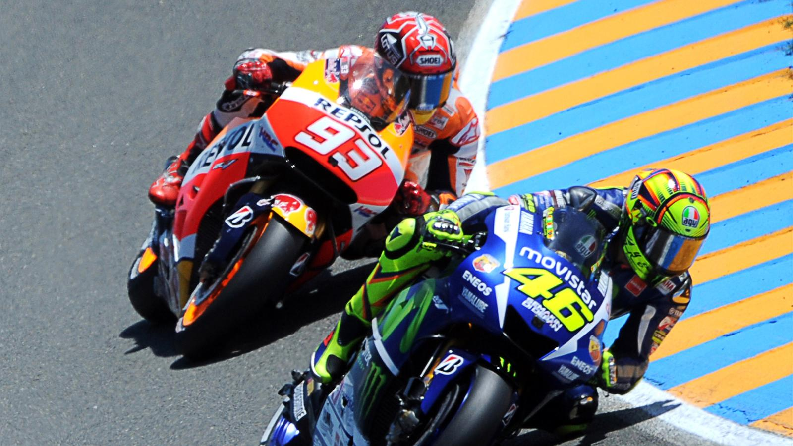 moto gp peut on aimer la fois valentino rossi yamaha factory et marc marquez honda hrc. Black Bedroom Furniture Sets. Home Design Ideas