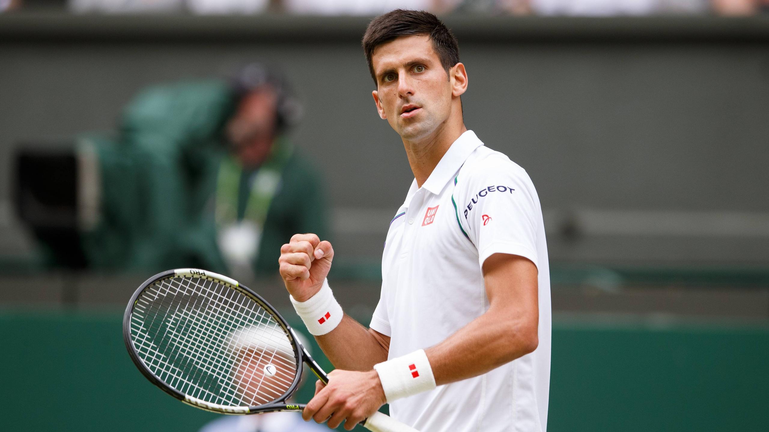 Wimbledon defending champion Novak Djokovic