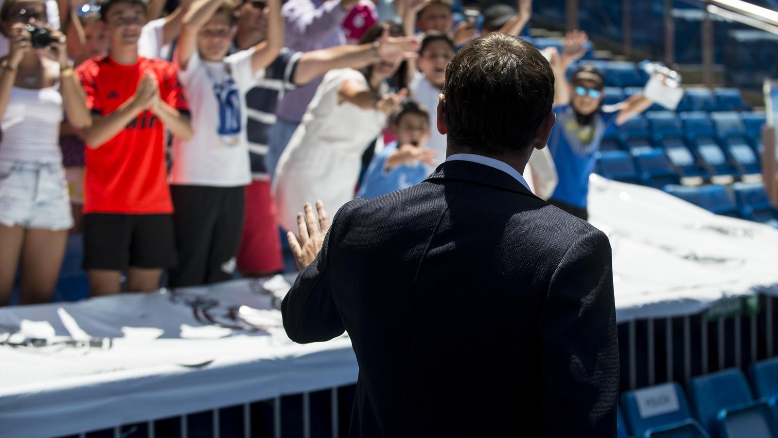 Iker Casillas (Real Madrid) lors de son départ du Real Madrid