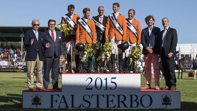 Dutch show champions class to win FEI Nations Cup qualifier at Falsterbo