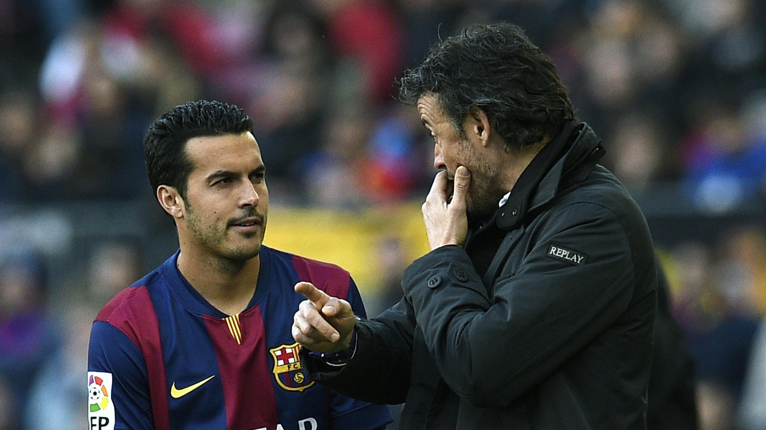 Pedro avec Luis Enrique