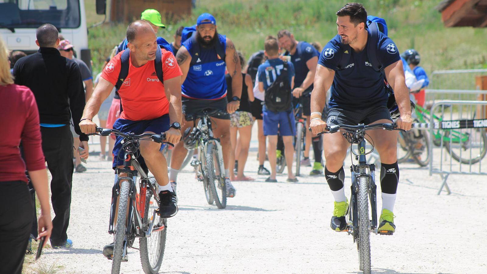 Balade à vélo pour Bru, Dumoulin et le XV de France - juillet 2015