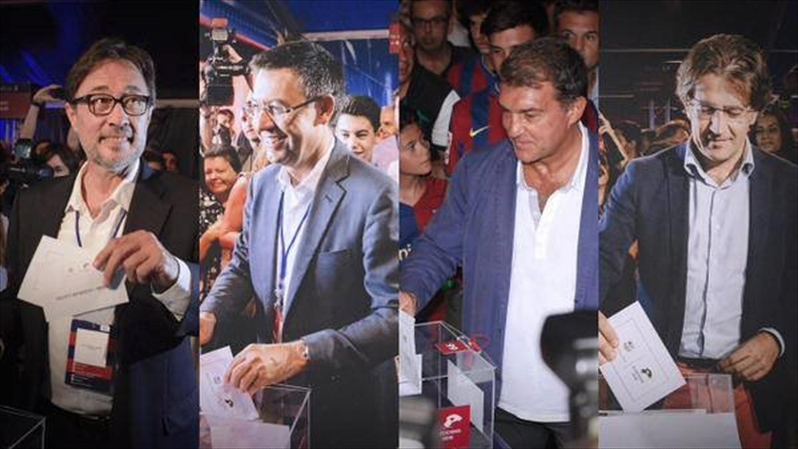 فيغو ورونالدو يشاركان في إنتخابات رئاسة برشلونة الإسباني!