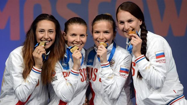 Сборная России победила в командном зачете на чемпионате мира по фехтованию