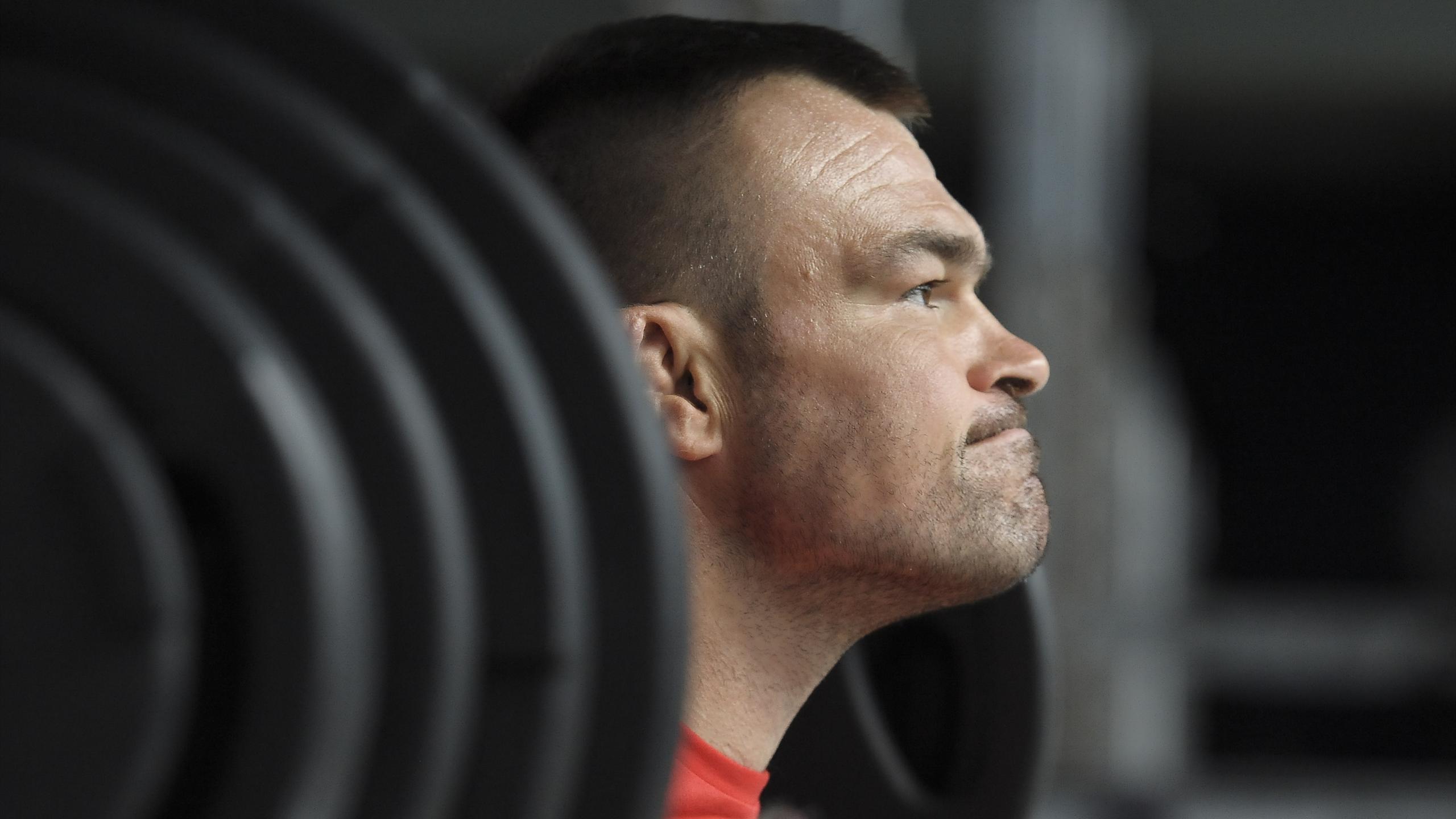 Nicolas Mas (XV de France) en pleine séance de musculation - juillet 2015