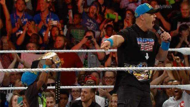 John Cena makes 7-year-old's wish come true at WWE Raw
