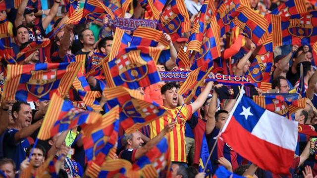 Barca fined for fan behaviour