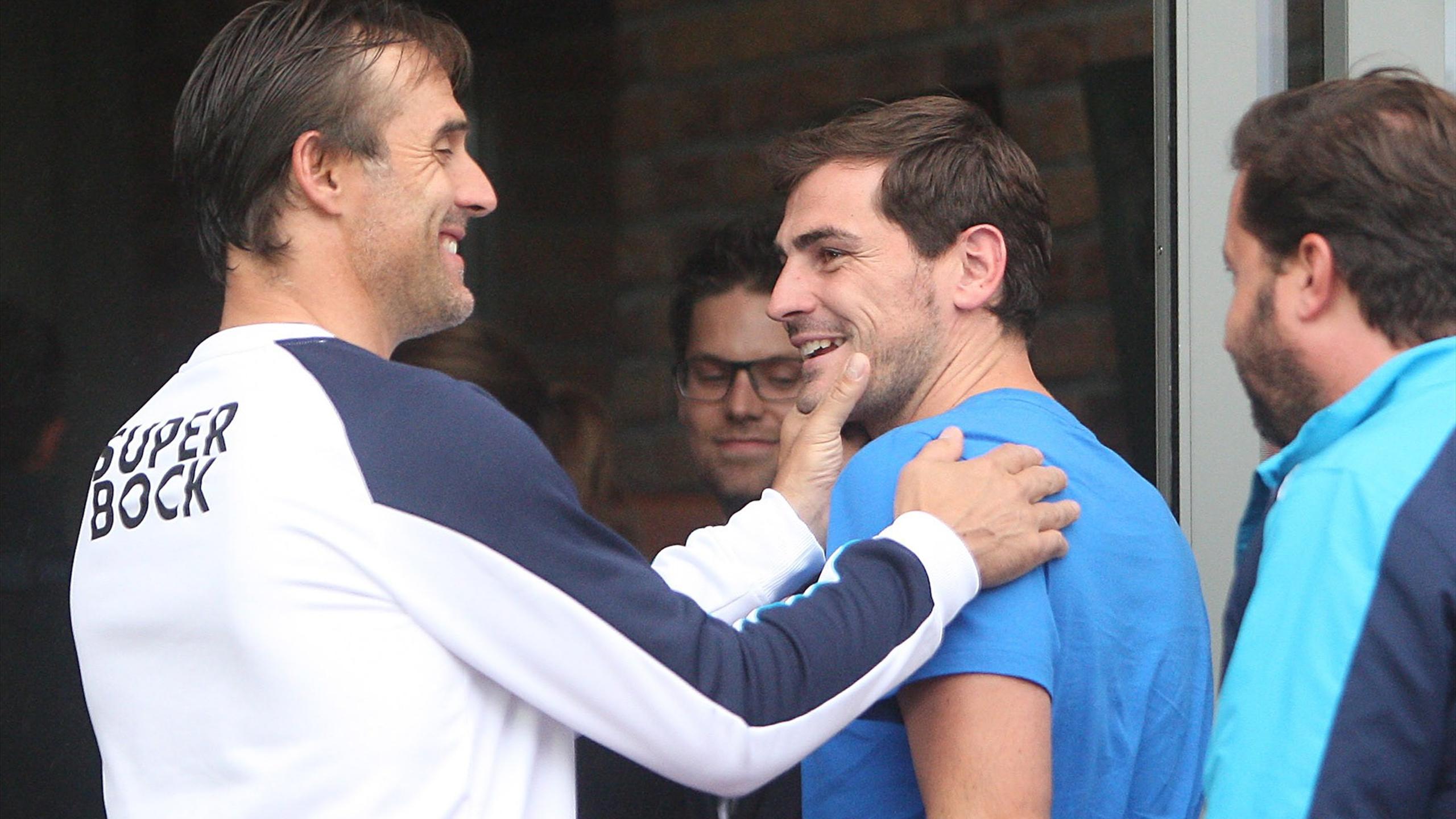 Julen Lopetegui et Iker Casillas ensemble