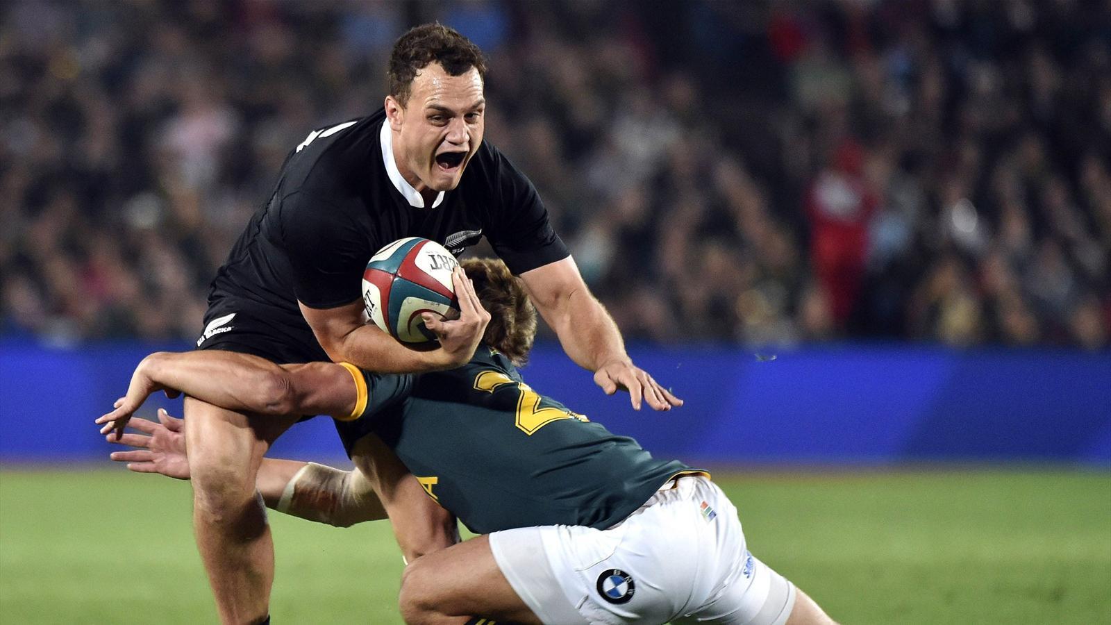 L'arrière des All Blacks, Israel Dagg, face à l'Afrique du Sud en 2014