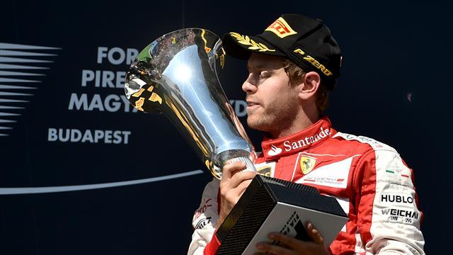Macaristan'da zafer Sebastian Vettel'in