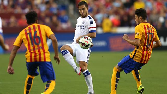 Un Hazard «maradonesque» et Chelsea s'offrent le Barça, dans une rencontre très engagée