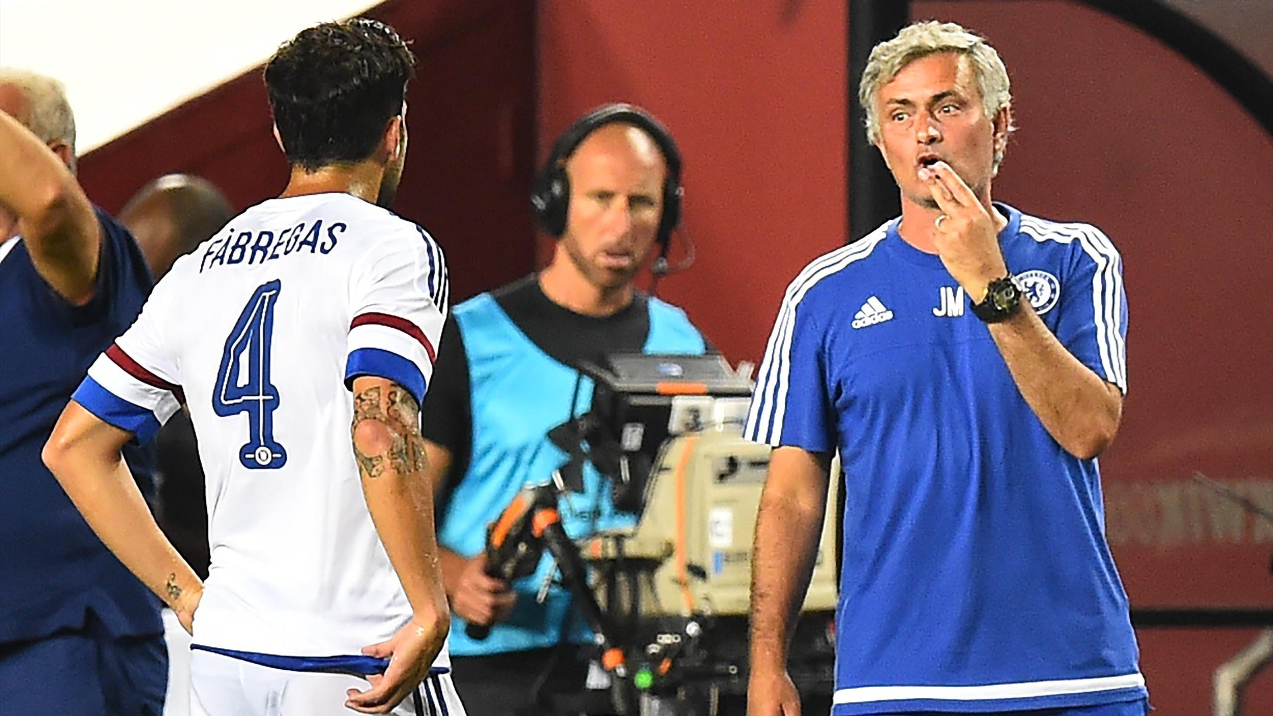 José Mourinho et Cesc Fabregas (Chelsea)