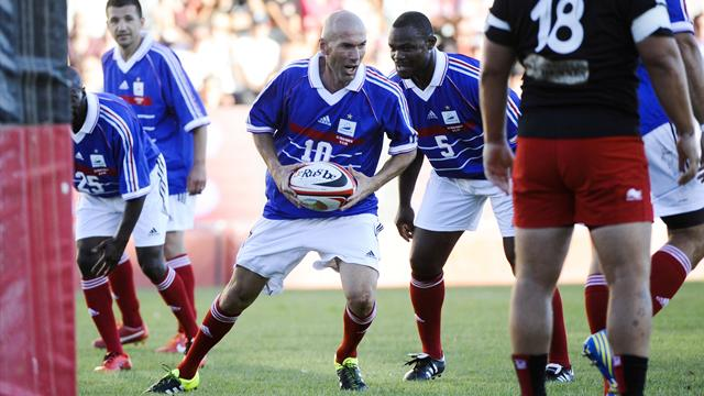 Zidane, Deschamps, Pirès, Armitage… Pour la bonne cause, rugby et foot ont fait bon ménage à Mayol