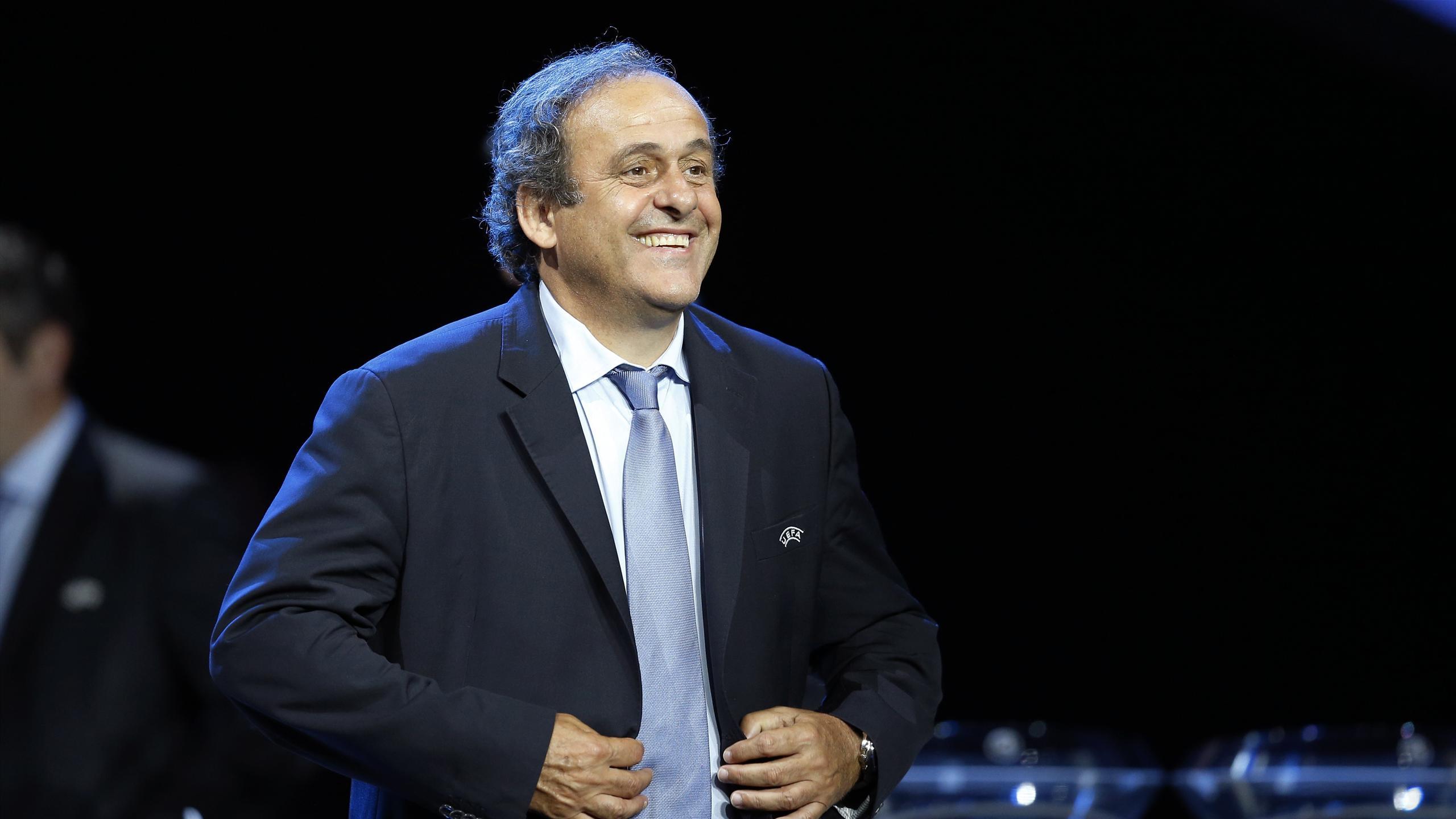 Michel Platini, candidat à la présidence de la FIFA