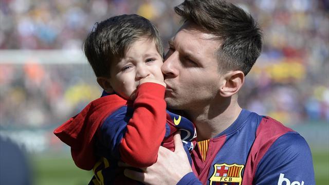 Quand le fils de Messi court dans les pas de son papa