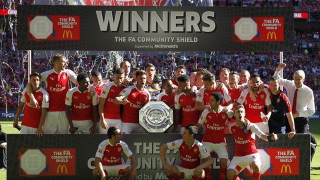 Oxlade-Chamberlain fires Arsenal to Community Shield glory