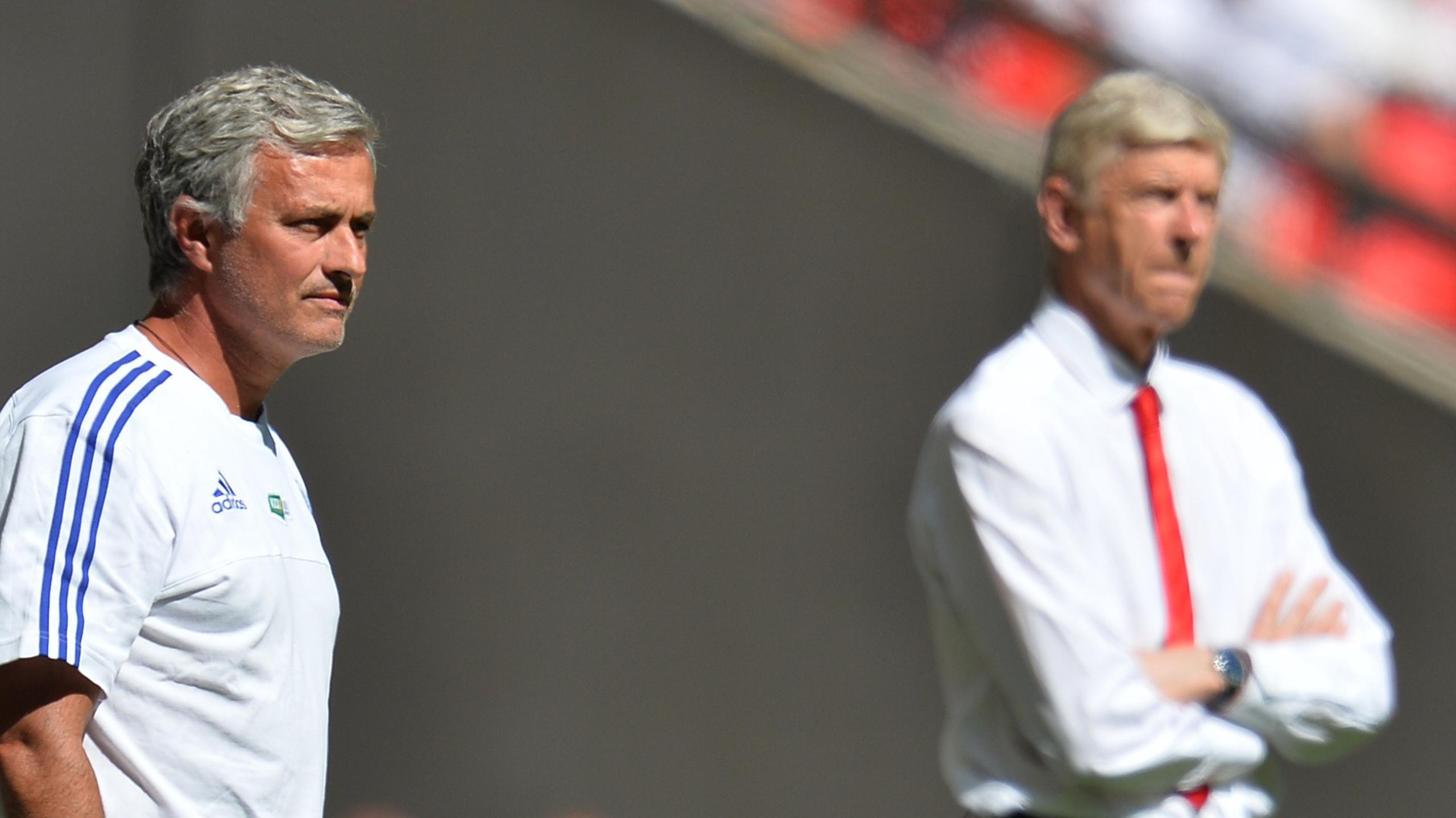 José Mourinho et Arsène Wenger à Wembley