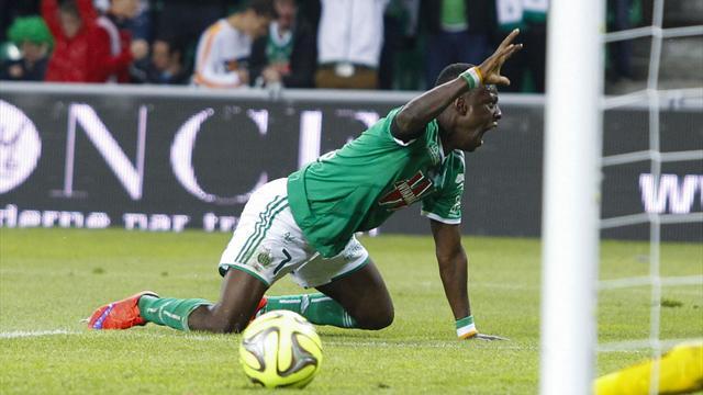 Max-Alain Gradel, l'attaquant de l'AS Saint-Etienne, le 23 mai 2015.