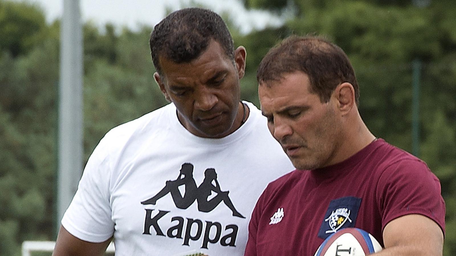 Emile Ntamack et Raphaël Ibanez (Bordeaux-Bègles) - 4 août 2015