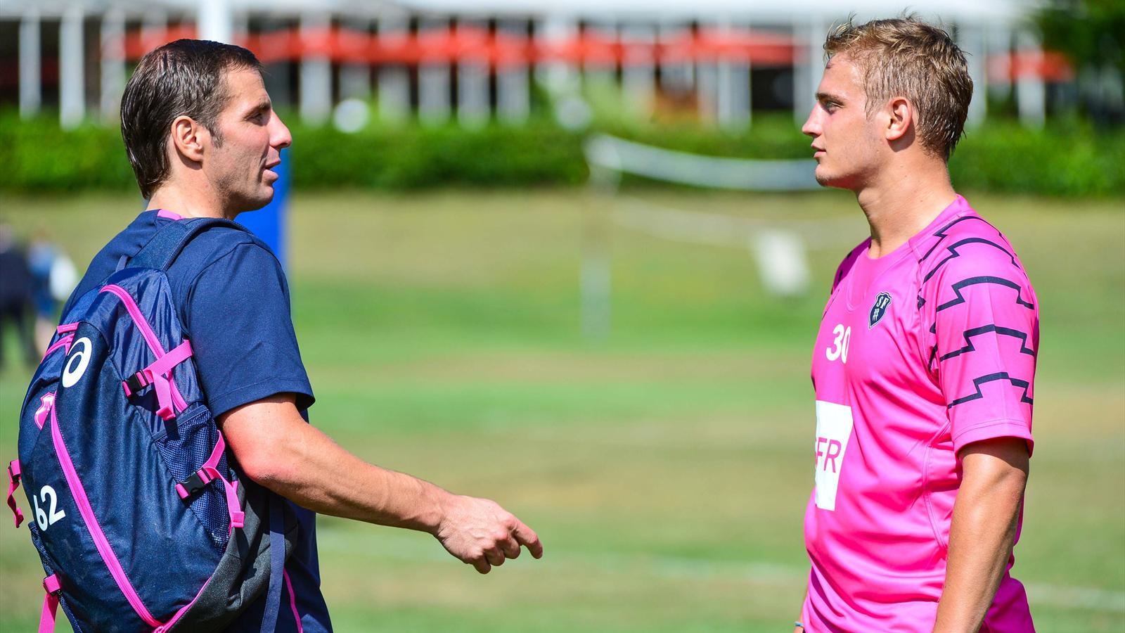 Gonzalo Quesada et Jules Plisson (Stade français) - Août 2015