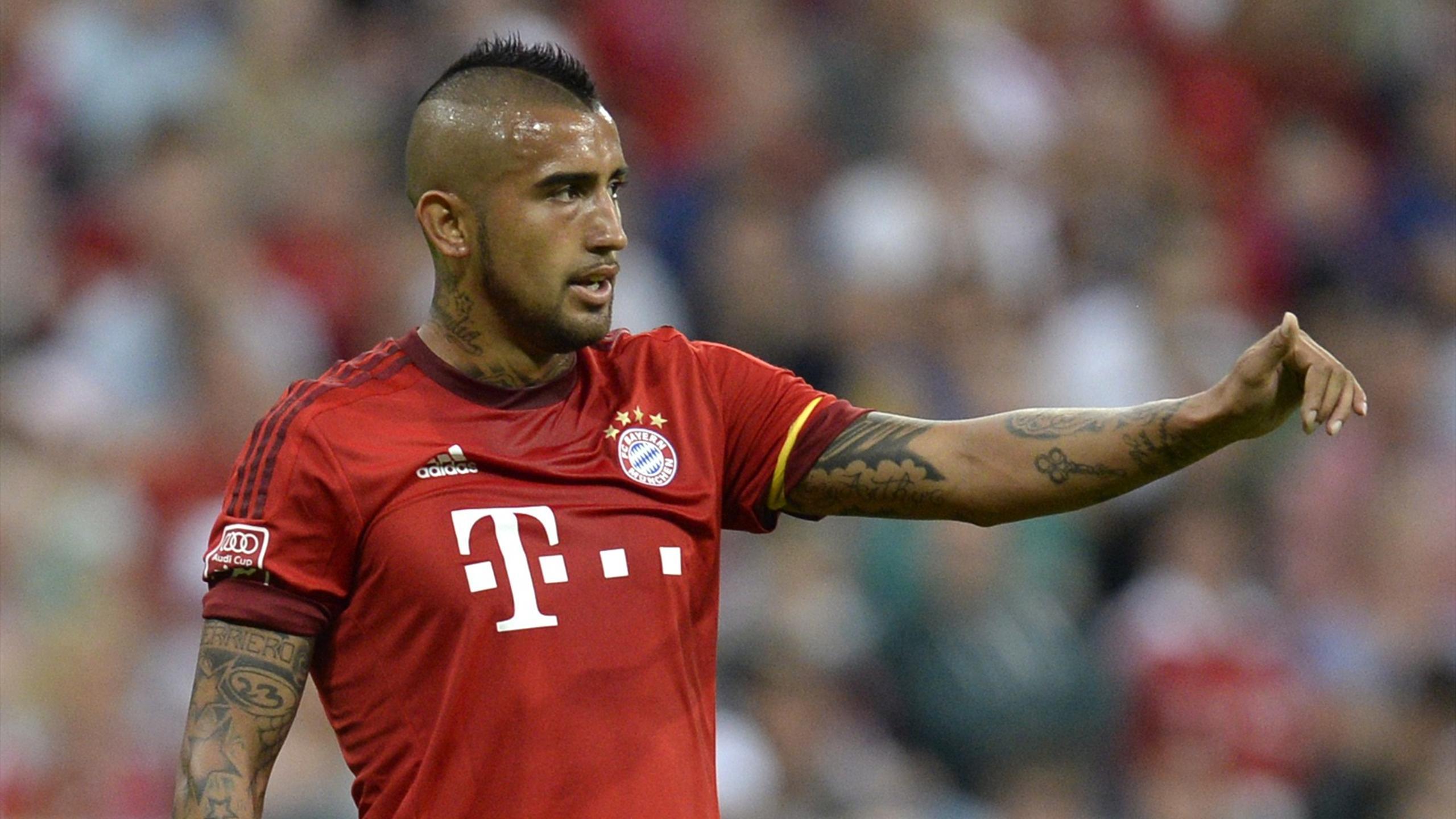Arturo Vidal (Bayern Munich) contre l'AC Milan en Audi Cup, le 4 août 2015 à Munich