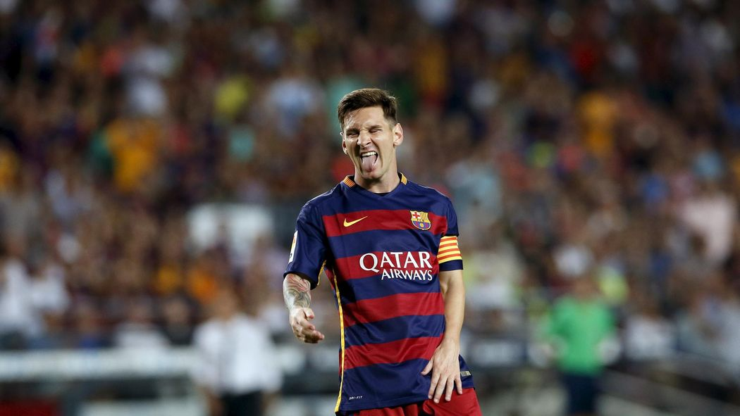 Lionel Messi aims headbutt at Mapou Yanga-Mbiwa during