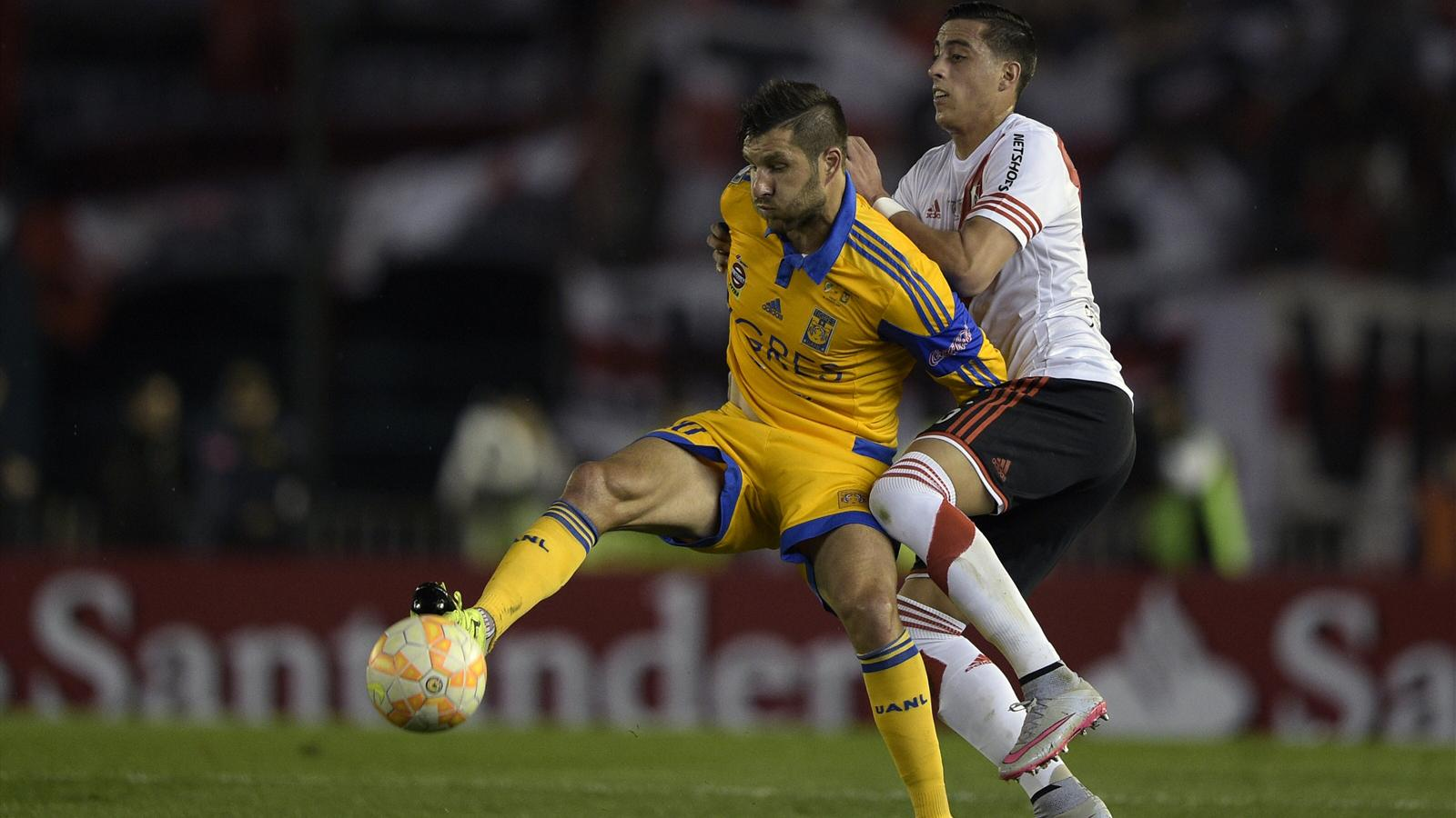 André-Pierre Gignac (Tigres Monterrey) contre River Plate en finale retour de la Copa Libertadores le 5 août 2015