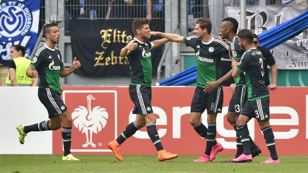 Schalke 04 Fertigt Msv Duisburg Ab Dfb Pokal 2015 2016 Fußball
