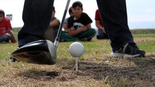 Ardahanlı gençler, golf sahasına kavuştu